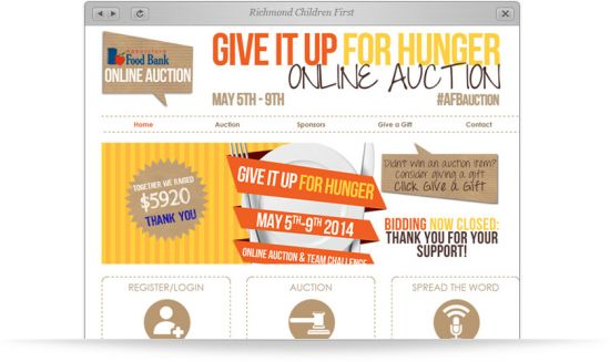 Abbotsford Food Bank Auction Website